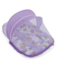 Mee Mee Mattress Set With Mosquito Net And Pillow - Purple