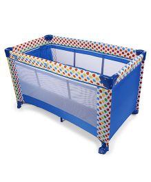 Mee Mee Play Pen Dots Print - Blue