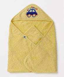 Mee Mee Hooded Towel Car Patch - Yellow