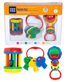 Mee Mee Rattle Set Set of 3 - Multi Color