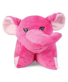Starwalk Elephant Shape Folding Pillow - Dark Pink