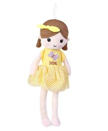Starwalk Candy Doll With Bow Yellow - Height 50 cm