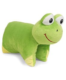 Starwalk Frog Face Folding Pillow - Green