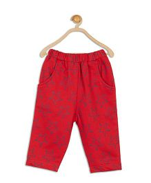 612 League Full Length Lounge Pants Star Print - Red