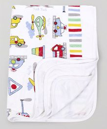 Mee Mee Baby Towel Vehicle Design - White