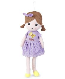 Starwalk Candy Doll With Bow Purple - Height 50 cm
