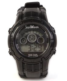 Digital Wrist Watch SW- 34A - Black