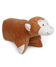 Starwalk Monkey Shape Folding Pillow - Brown