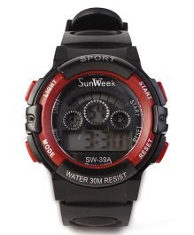 Digital Wrist Watch SW- 39A - Black & Red