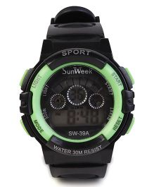 Digital Wrist Watch SW- 39A - Black & Green