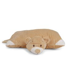 Starwalk Plush Folding Pillow Bear Design - Brown