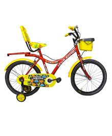 Atlas Jurassic Tricycle With Trainer Wheels Red & Yellow - 20 inches