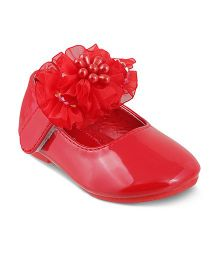 Kittens Party Wear Bellies Corsage Detailing - Red