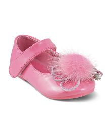 Kittens Party Wear Belly Shoes Velcro Closure - Pink