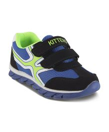 Kittens Casual Shoes Dual Velcro Closure - Black Blue