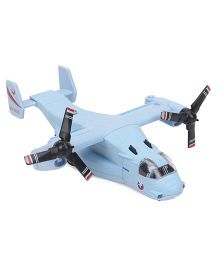 Sonic Heli Action Die Cast Airplane Toy With Light & Sound - Blue