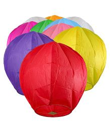 Toycry Flying Sky Lanterns Pack of 10 - Multicolour