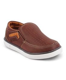 Kittens Shoes Synthetic Loafers - Brown