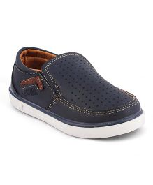 Kittens Shoes Synthetic Loafers - Navy Blue
