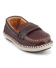 Kittens Moccasins Loafers - Brown