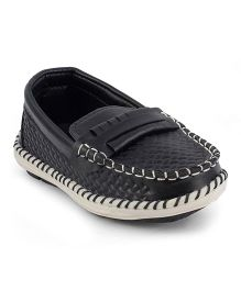 Kittens Moccasins Loafers - Black
