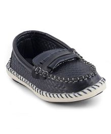 Kittens Moccasins Loafers - Navy Blue