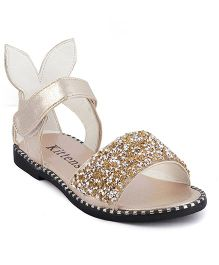 Kittens Shimmer Sandals - Golden