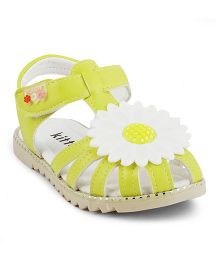 Kittens Sandals With Flower - Yellow