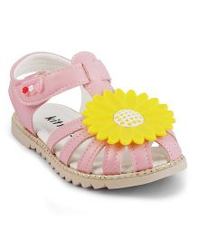 Kittens Sandals With Flower - Pink