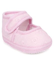 American Studio Velcro Closure Anti Skid Booties - Pink