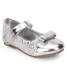 Spring Bunny Double Bow Bellies - Silver