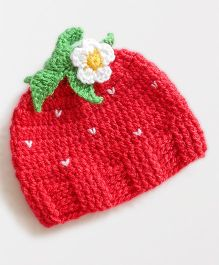 Dollops of Sunshine Strawberry Cap -  Pink