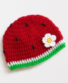 Dollops of Sunshine Watermelon Cap - Red White & Green