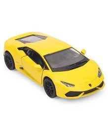 Kinsmart Lamborghini Huracan Lp610-4 Die Cast Toy Car With Openable Doors - Yellow