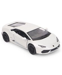 Kinsmart Lamborghini Huracan Lp610-4 Die Cast Toy Car With Openable Doors - White