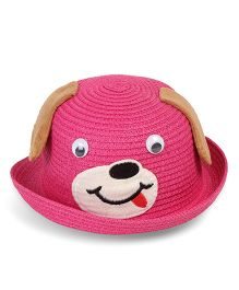 Babyhug Hat With Adjustable String And 3D Ears - Pink