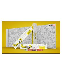 Inkmeo Animals Colouring Roll