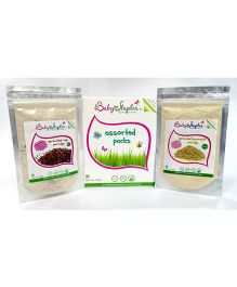 BabyStaples Assorted Sprouted Ragi & Amaranth Cereal Pack - 200 gm