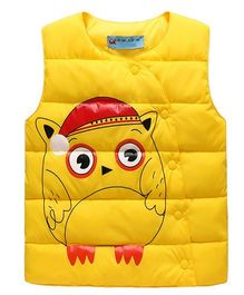 Superfie Cute Design Puffed Jacket - Yellow