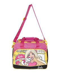 Barbie Printed Duffle Bag - Pink & Yellow