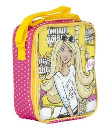 Barbie Multi Utility Insulated Lunch Bag  - Yellow