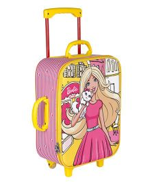 Barbie Trolley Bag With 2 Wheels Yellow Pink - 16.9 inches