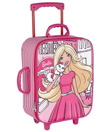 Barbie Trolley Bag With 2 Wheels Pink - 16.9 inches