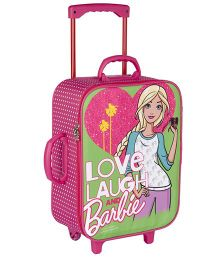 Barbie Trolley Bag With 2 Wheels Green - 16.9 inches