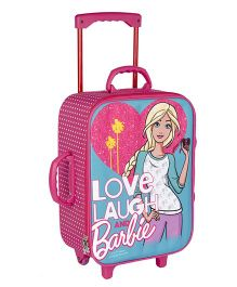 Barbie Trolley Bag With 2 Wheels Blue - 16.9 inches