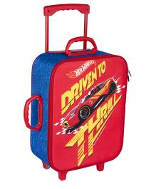 Hot Wheels Trolley Bag Red Blue - 16.9 inches