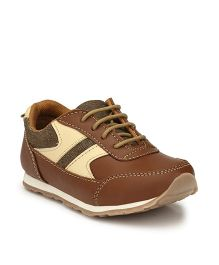 Tuskey Lace Tie-up Casual Shoes - Brown