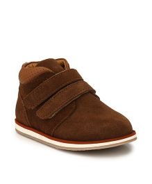 Tuskey High Ankle Shoes - Brown