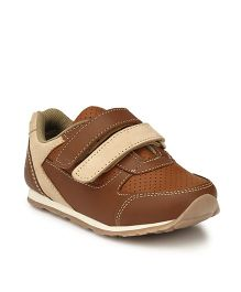 Tuskey Velcro Closure Casual Shoes - Brown