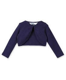 Beebay Party Wear Full Sleeves Shrug - Navy Blue